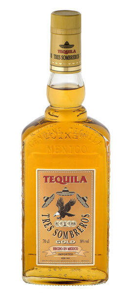 Tekila Tres Sombreros GOLD 0,7l