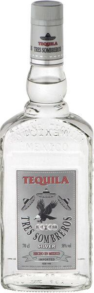 Tekila Tres Sombreros Silver 0.7l