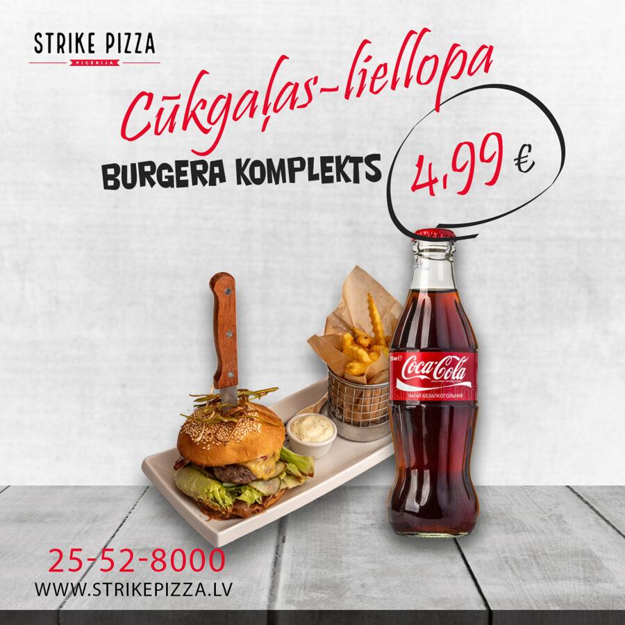 Cūkgaļas-liellopa burgera komplekts