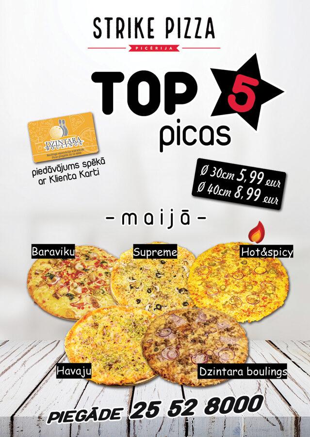 Strike Pizza TOP5 picas